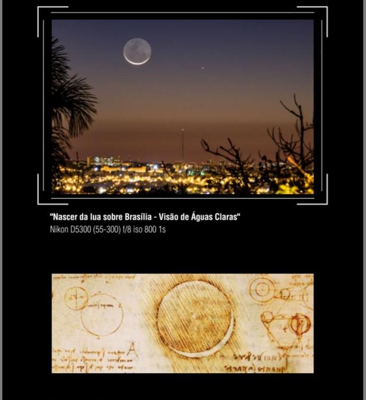 Exposição faz paralelo entre céu de Brasília e obras de Leonardo da Vinci — Foto: Reprodução