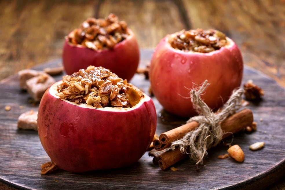 Receita vegana: maçã recheada — Foto: Istock Getty Images