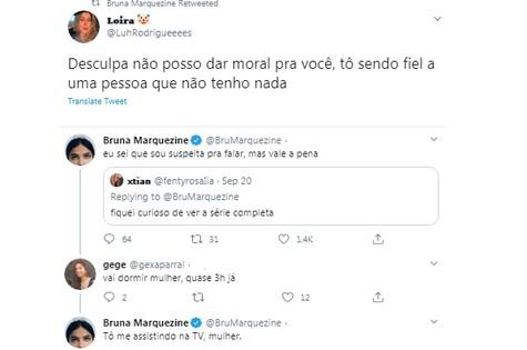 Bruna Marquezine faz piada sobre fidelidade (Foto: Reprodução)