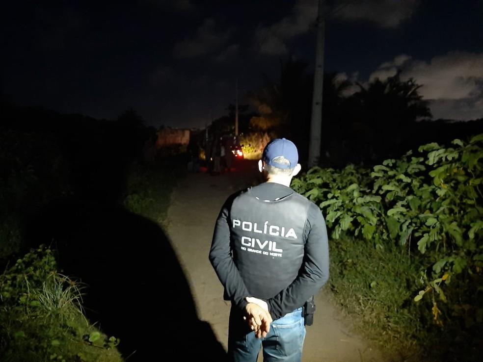 Buscas por José Carlos, menino de 8 anos desaparecido em Natal — Foto: Sérgio Henrique Santos/Inter TV Cabugi