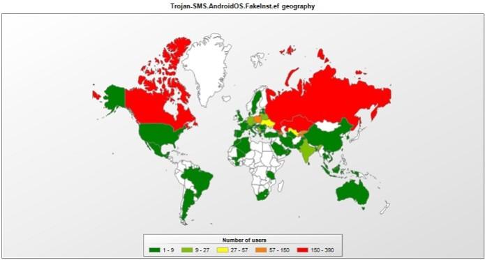 Mais de 60 países já foram atingidos pelo trojan criado na Rússia  (Foto: Reprodução/Securelist)