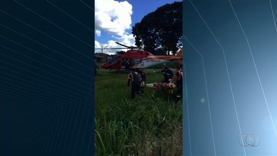 Criança ferida por roçadeira está em estado gravíssimo, diz hospital