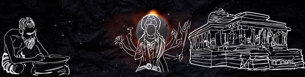 Acreditavam que era uma grande batalha que acabaca revelando o deus Vishnu — Foto: Wagner Magalhães/G1