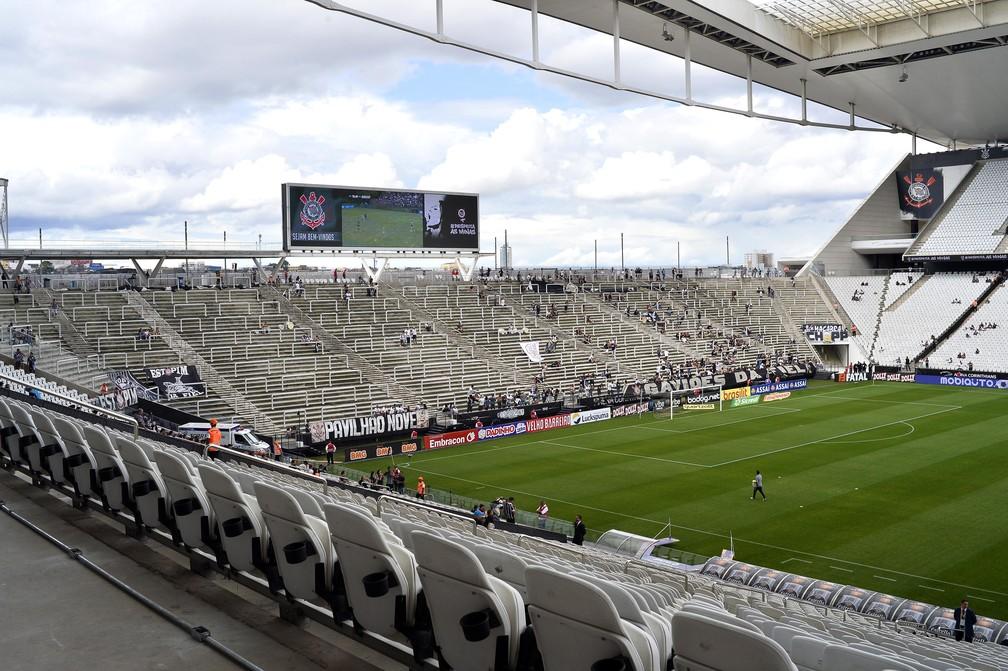 Arena Corinthians é motivo de divergência entre Timão e Caixa — Foto: Marcos Ribolli