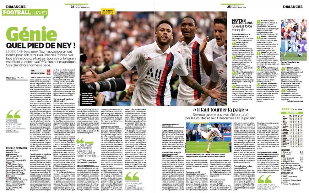 Neymar; PSG; Le Parisien — Foto: Reprodução/Le Parisien