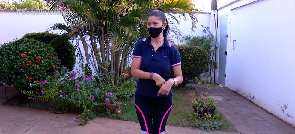 Mulher com deficiência foi agredida em lava a jato — Foto: Reprodução/TV Anhanguera