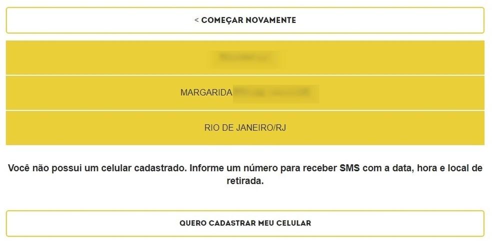 Mensagem para quem tem direito grátis ao kit de TV digital dado pelo governo  (Foto: Reprodução/Raquel Freire)