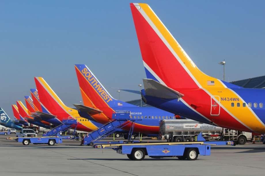 Aviões da companhia Southwest (Foto: Reprodução)