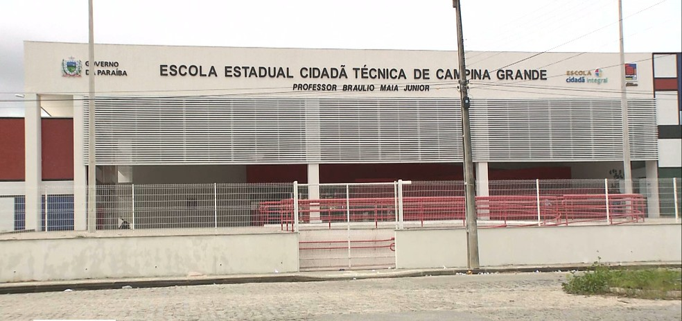 Escola Estadual Cidadã Técnica de Campina Grande Professor Braulio Maia Júnior — Foto: Reprodução/TV Paraíba