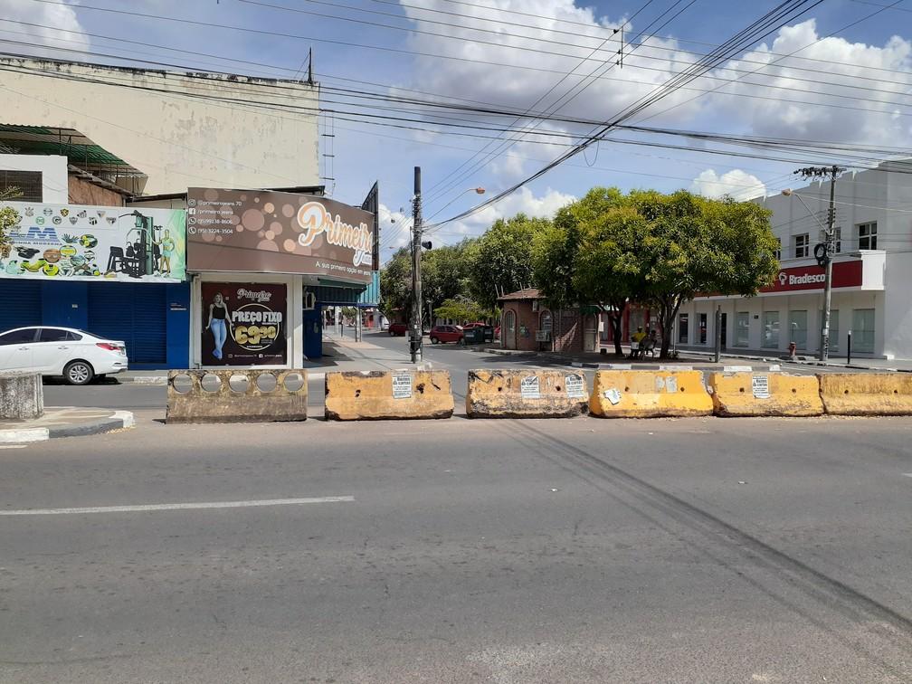 BOA VISTA - Centro comercial de Boa Vista, capital de Roraima, vazio nesta quinta-feira (26) — Foto: Fabrício Araújo/G1