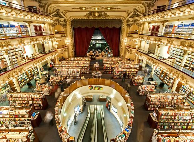 El Ateneo Grand Splendid, a livraria mais bonita do mundo fica em Buenos Aires (Foto: Atlas Obscura/ Reprodução)