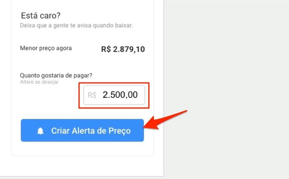 Dica para criar um alerta de preço para um produto no site Zoom — Foto: Reprodução/Marvin Costa