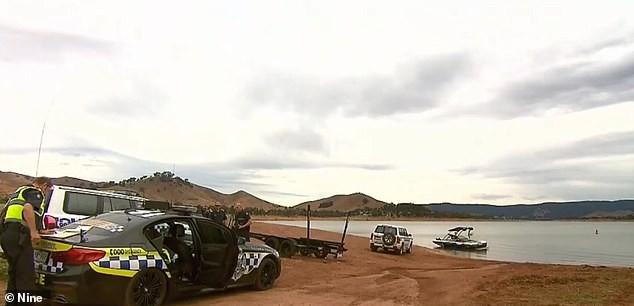 O acidente aconteceu no Lago Eildon, na Austrália (Foto: 9News)