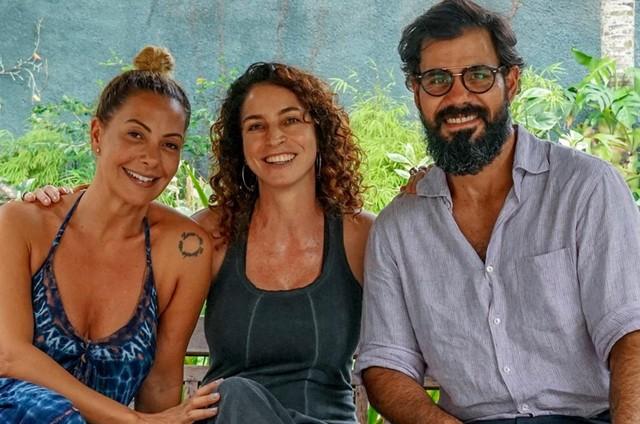 Fabiula Nascimento e Juliano Cazarré dublaram cenas de 'Pluft', primeiro longa infantil rodado em 3D no Brasil, dirigido por Rosane Svartman (Foto: Elisa Bessa)
