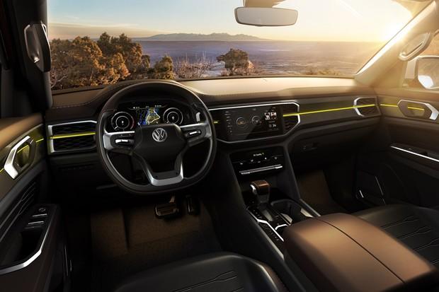Volkswagen revela conceito Atlas Tanoak que dará origem a nova picape da marca (Foto: Divulgação)