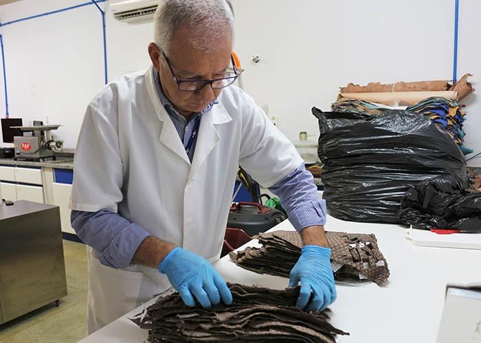Pesquisador da Embrapa_Couro de peixe (Foto: Divulgação/Embrapa)