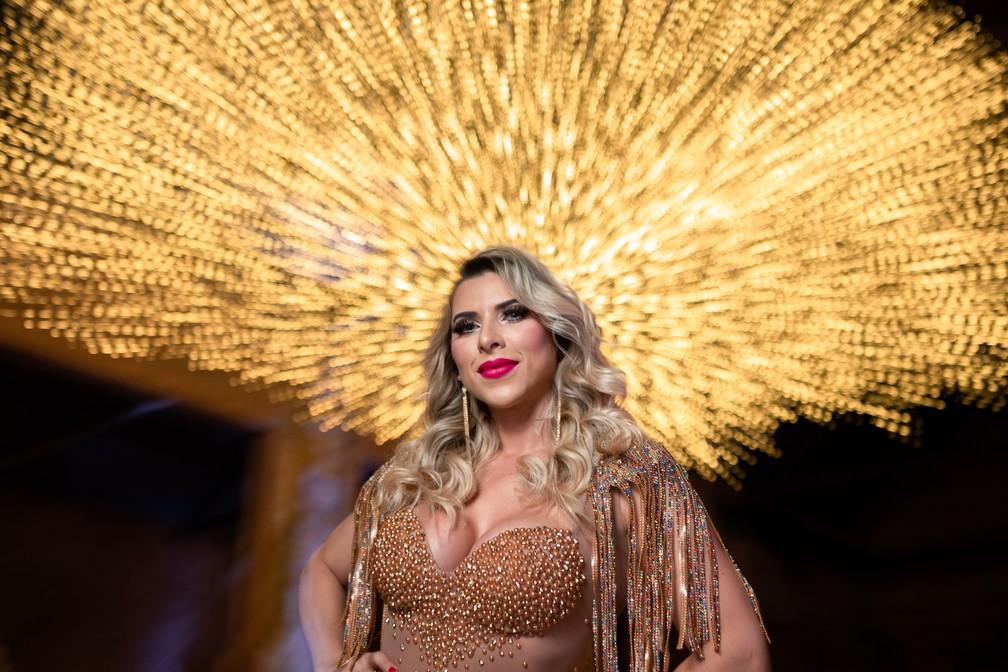 Ana Paula Minerato estreia como musa da bateria da Acadêmicos do Tatuapé — Foto: Fábio Tito/G1