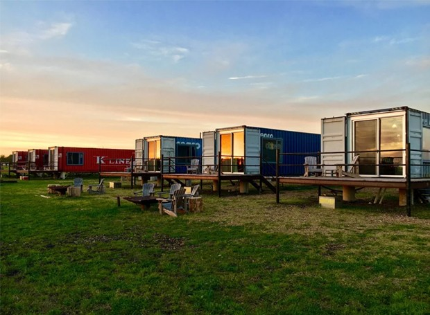A estrutura é por conta do hotel, enquanto o design pode ser feito pelo hóspede (Foto: Flophouze/ Reprodução)