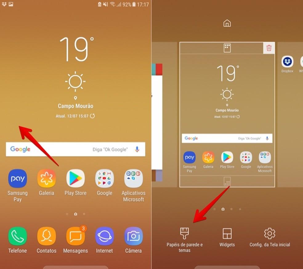 O Mudar Papel De Parede No Galaxy J7 Pro Celular