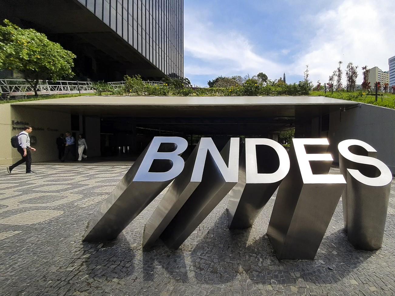 Fachada do BNDES, no centro do Rio de Janeiro