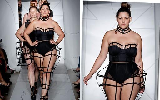 Modelos plus size puxam a fila de desfiles do NYFW e apontam para uma moda mais democrática