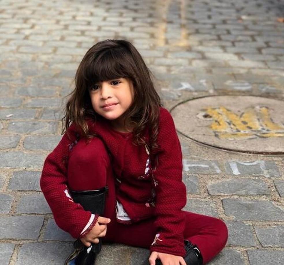 Khálida Trabulsi Lisboa, de 3 anos, morreu após ser atingida por uma rocha em um deslizamento na Cordilheira dos Andes — Foto: Arquivo pessoal