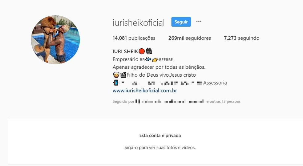 Depois do crime, empresário e digital influencer Iuri Sheik fechou redes sociais — Foto: Reprodução/Redes Sociais