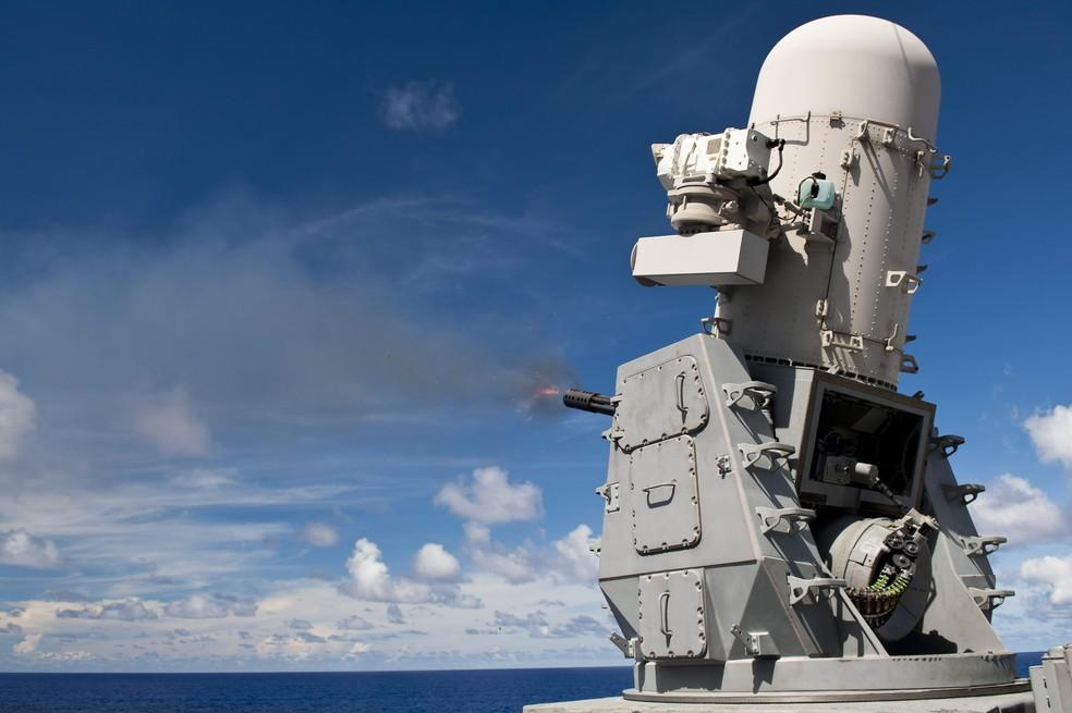 Phalanx, sistema automático da Raytheon. (Foto: Divulgação/Raytheon)