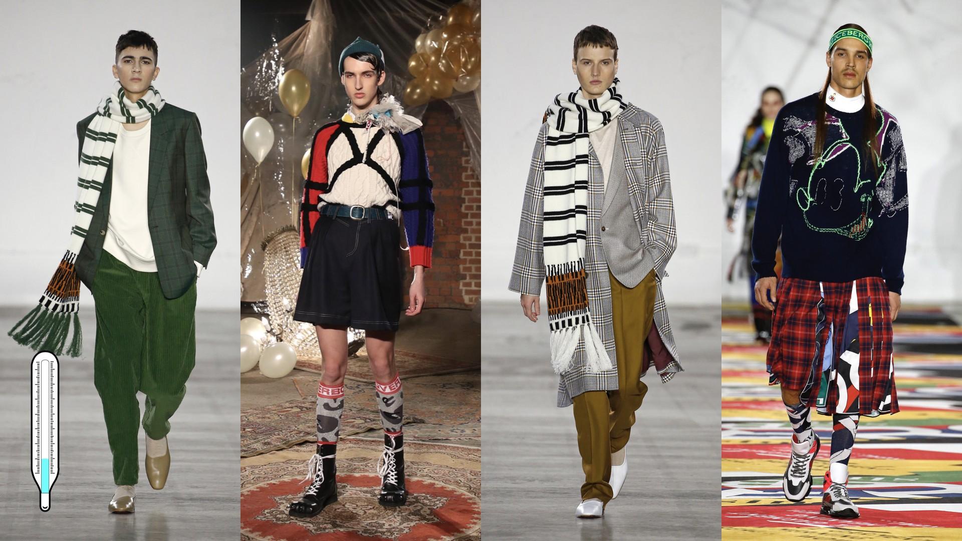 Tendências semana da moda masculina de Londres (Foto: Getty Images)