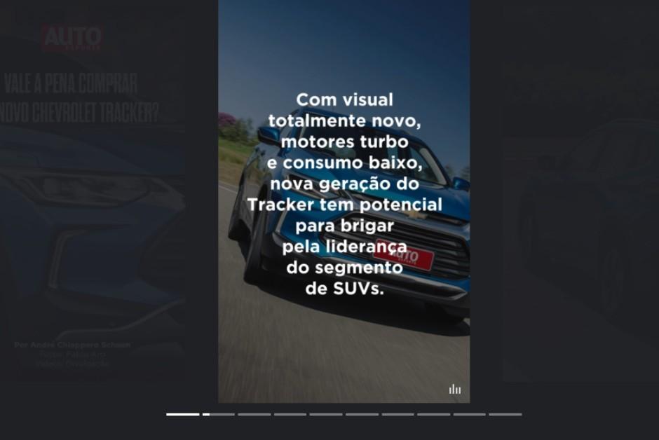 Webstories da Autoesporte, feitos em parceria com o Google (Foto: Reprodução)