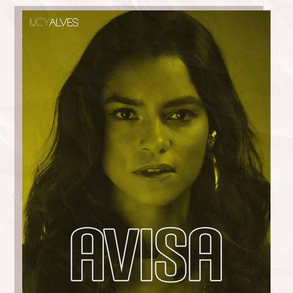 Capa do single 'Avisa', de Lucy Alves — Foto: André Hawk / Divulgação