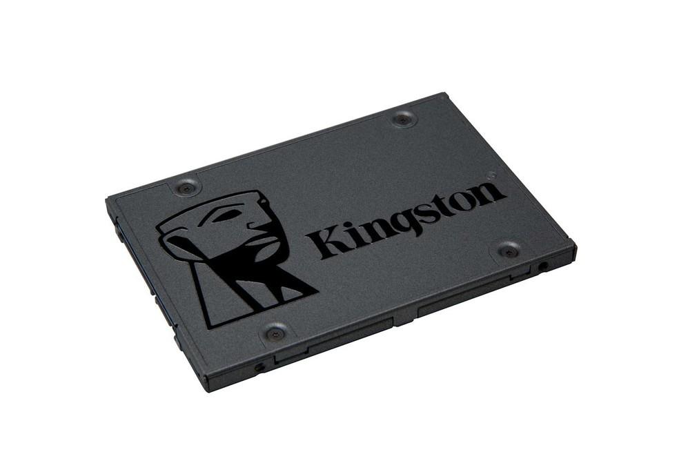 SSD Kingston SA400S37/480G tem corpo de alumínio — Foto: Divulgação/Kingston