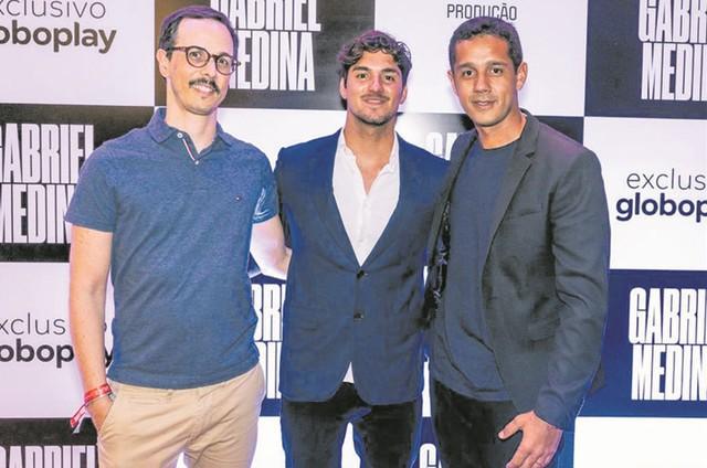 Gabriel Medina, Lucas Paraizo e Henrique Daniel (Foto: Divulgação)