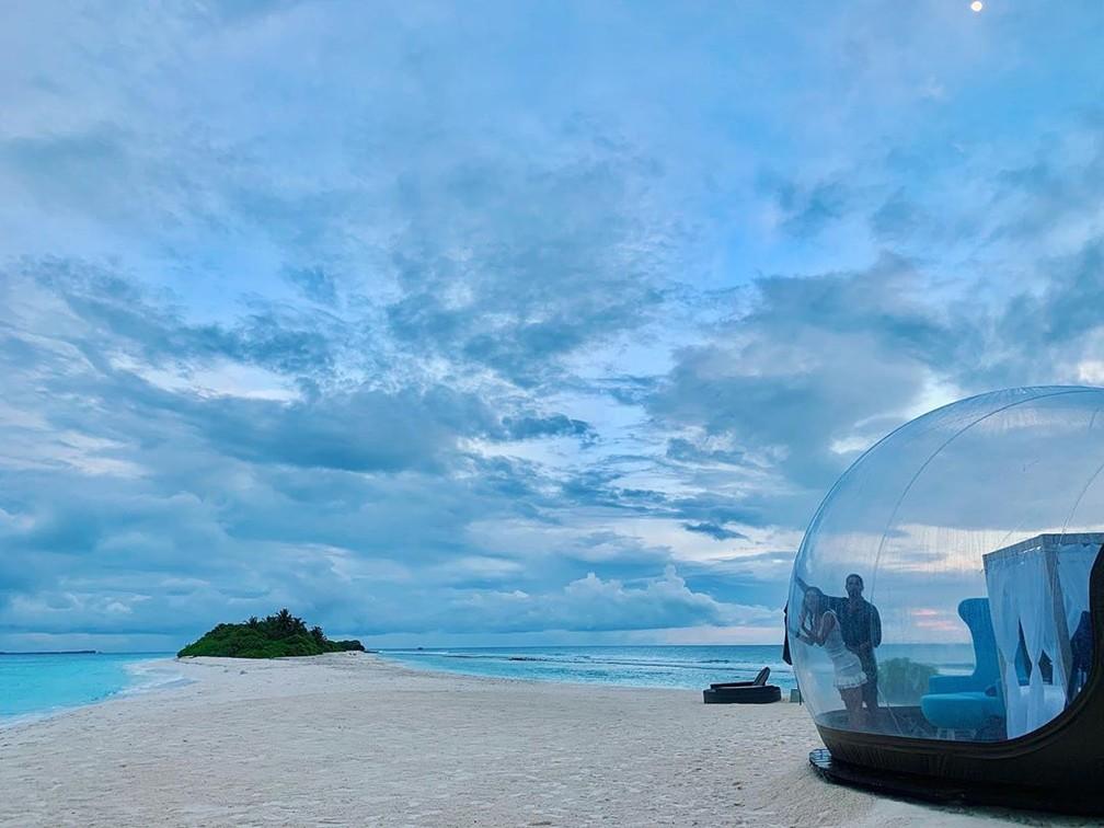 Thaila Ayala publica foto nas Maldivas — Foto: Reprodução Instagram