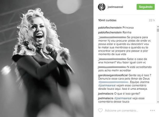 Joelma recebe ameaças (Foto: Instagram / Reprodução)