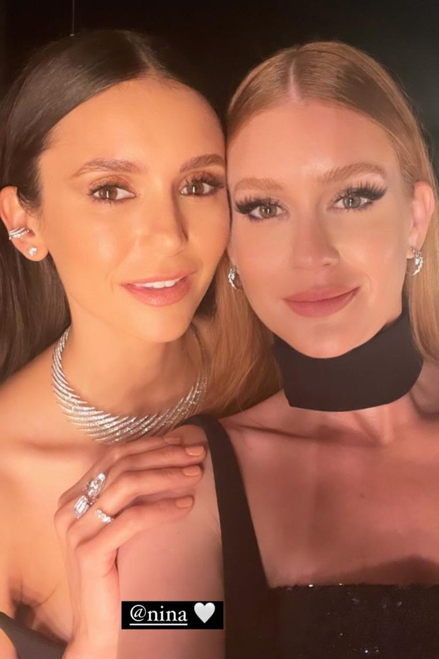 Marina Ruy Barbosa e Nina Dobrev em Cannes (Foto: Reprodução/Instagram)