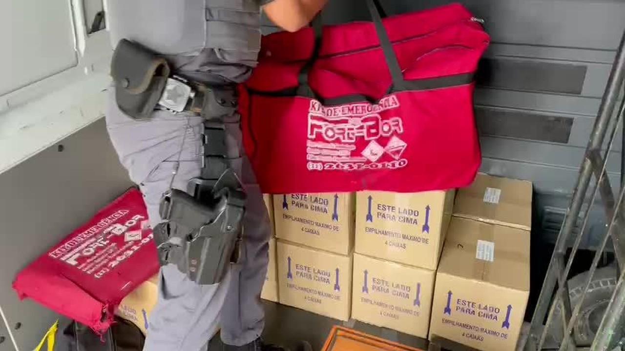 PM apreende carga roubada de material hospitalar de hemodiálise