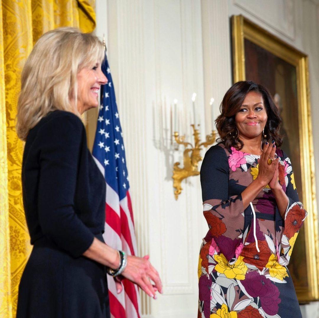 Jill Biden e Michelle Obama (Foto: Reprodução / Instagram @michelleobama)