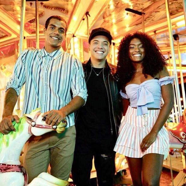 Marcello Melo Jr, Safadão e Erika Januza (Foto: Reprodução/Instagram)
