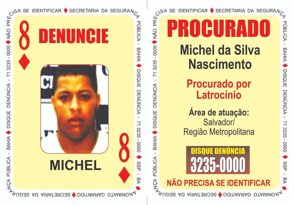 Milchel era o único suspeito no latrocínio que ainda estava foragido. — Foto: SSP/ Divulgação