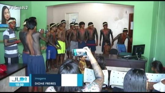 Protesto de indígenas em Marabá pede contratação de professores na 4ª Unidade Regional de Educação