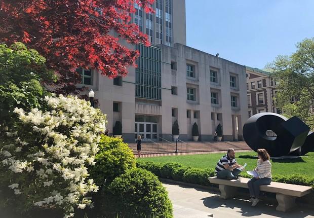 Universidade de Columbia, em Nova York (Foto: ARQUIVO PESSOAL/FERNANDA LOPES DE MACEDO THEES)