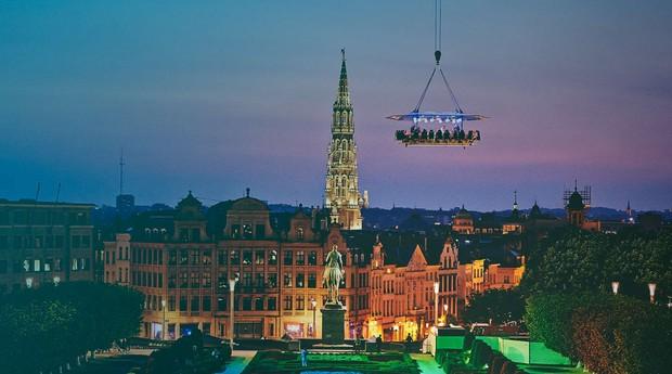 Dinner in the Sky nasceu na Bélgica e hoje já ganhou o mundo (Foto: Divulgação)
