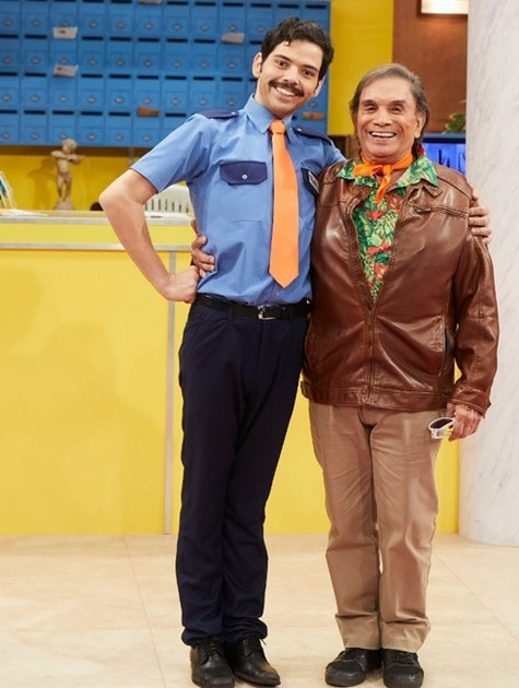 Gustavo Mendes e Dedé Santana posam nos bastidores de 'Treme treme' (Foto: Divulgação / Multishow)