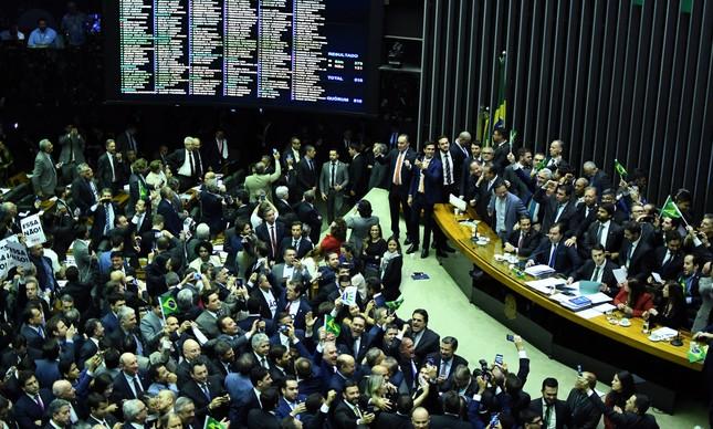 O plenário da Câmara