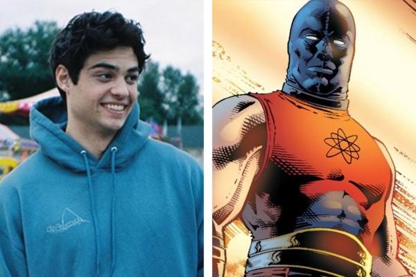 O ator Noah Centineo e o Esmaga-Átomo, personagem da DC Comics (Foto: Reprodução / Instagram ; divulgação / DC Comics)
