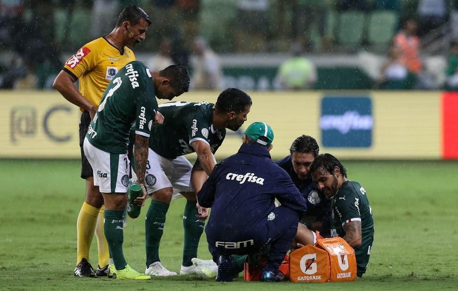 Resultado de imagem para Ricardo Goulart tem lesão no joelho e deve desfalcar Palmeiras por dois meses