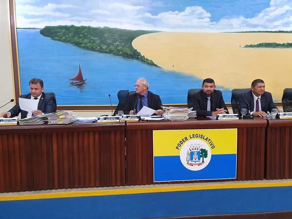 Sessão na Câmara Municipal de Santarém — Foto: Reprodução/Redes Sociais