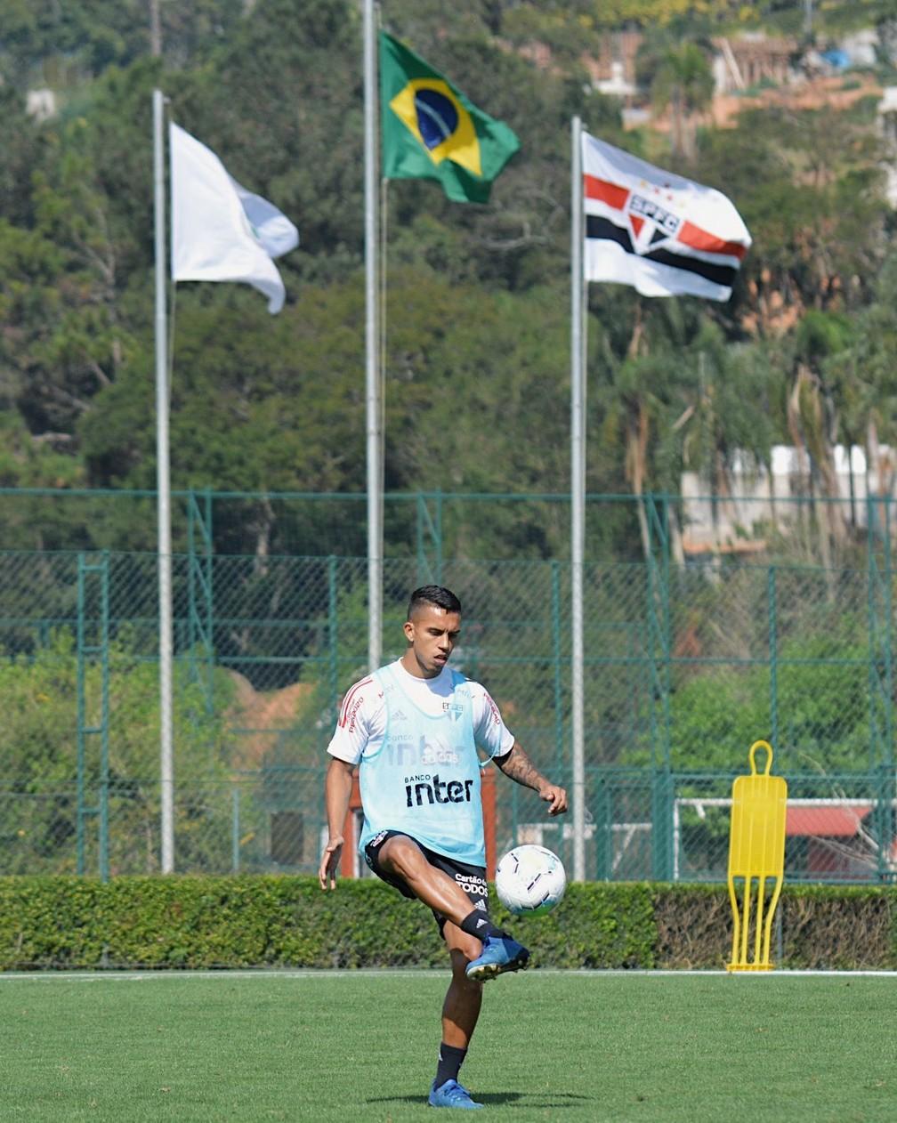 São Paulo estreia no Brasileiro contra o Goiás, domingo — Foto: Reprodução/Twitter