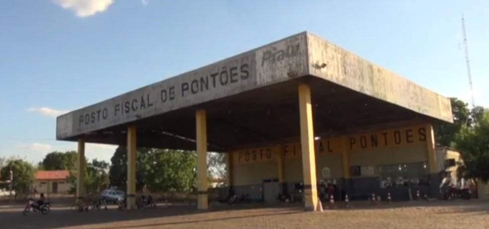 Posto Fiscal de Pontões, em Picos - Piauí — Foto: TV Clube